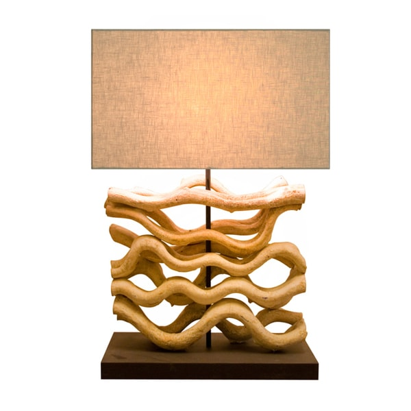 210079 Wood Table Lamp