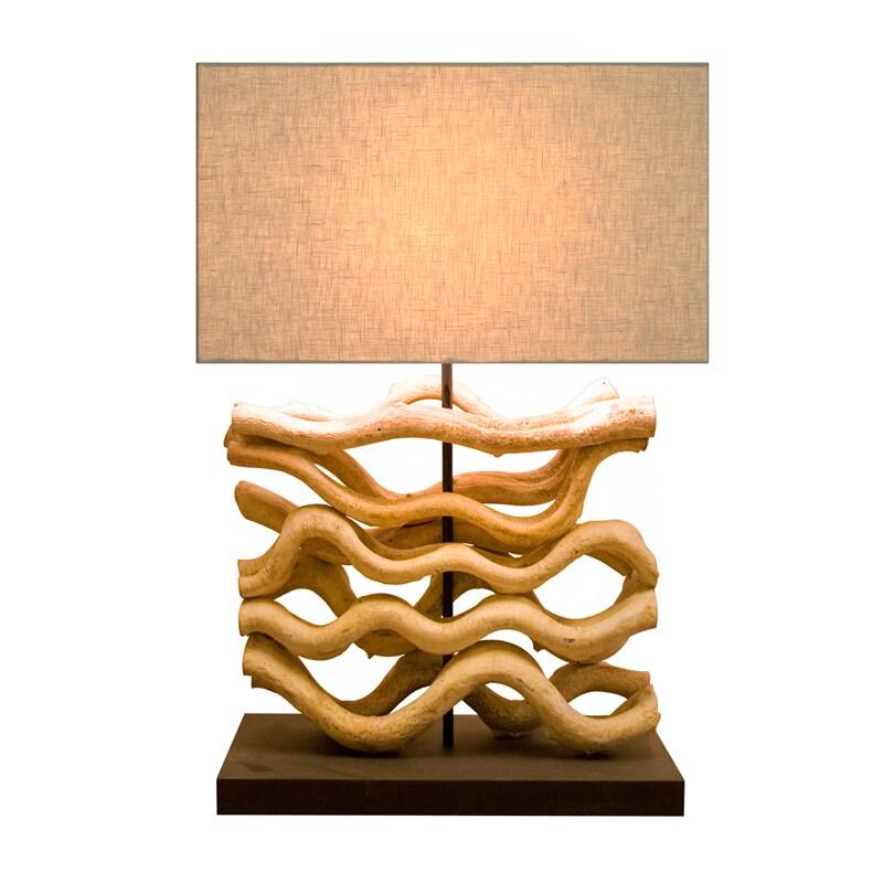 Bellini Modern Living 210079 Wood Table Lamp (natural), Tan