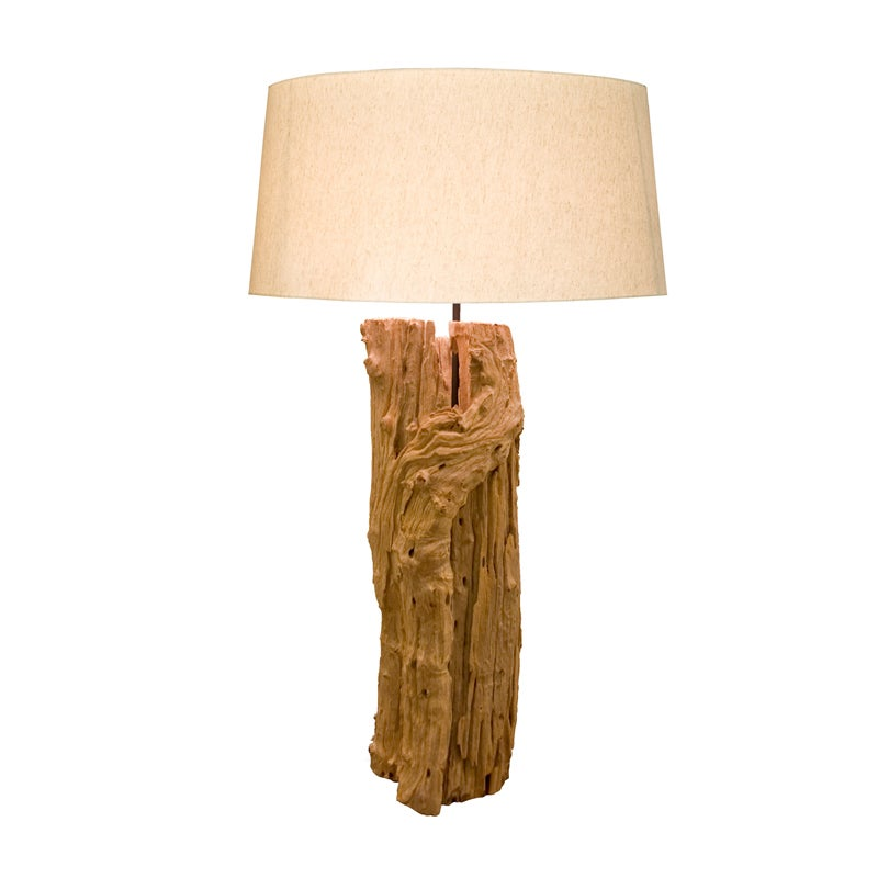 Bellini Modern Living Aspen Wood Round Table Lamp (natura...