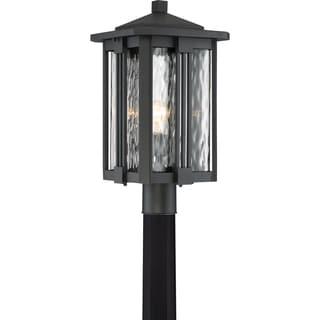 Quoize Everglade Earth Black Large Post Lantern