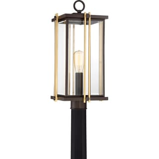 Quoizel Goldenrod GU24 Western Bronze Finish Steel Base CFL Large Post Lantern