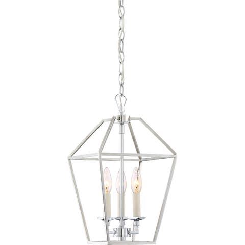 Quoizel Aviary Cage Polished Nickel Finish Steel 3-light Chandelier