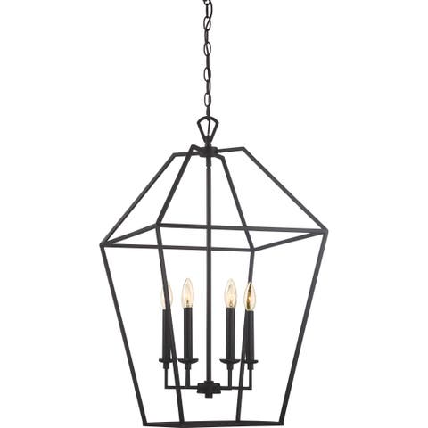 Aviary Palladian Bronze-finished Steel 6-light Cage Chandelier