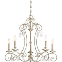 Quoizel Chantelle Gold Steel 5-light Chandelier