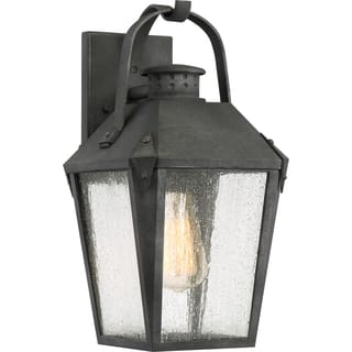 Quoizel Outdoor Lighting Quoizel outdoor lighting for less overstock quoizel carriage mottled black finish medium wall lantern workwithnaturefo