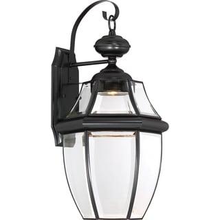 Quoizel Newbury Mystic Black Finish Clear LED Large Wall Lantern