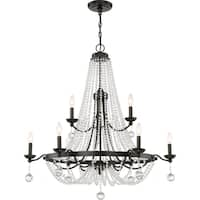Quoize Livery Western Bronze 9-light 2-tier Chandelier