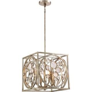Quoizel Artistry Vintage Gold Steel 4-light Pendant