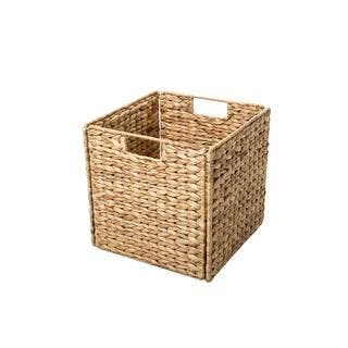 Trademark Innovations Beige Wicker 12-inch Foldable Storage Basket|https://ak1.ostkcdn.com/images/products/13932860/P20564692.jpg?impolicy=medium