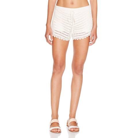 Minkpink Dreamweaver Tassel Ivory Cotton and Viscose Swim Cover Up Shorts