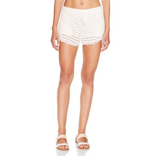 Minkpink Dreamweaver Tassel Ivory Cotton and Viscose Swim Cover Up Shorts