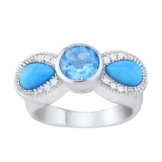 Pangea Mines Sleeping Beauty Turquoise & Topaz Ring