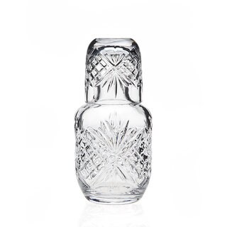 Godinger Dublin Clear Crystal 16-ounce Night carafe with Matching Glass