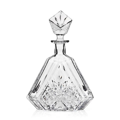 Godinger Dublin Clear Crystal Triangular Decanter