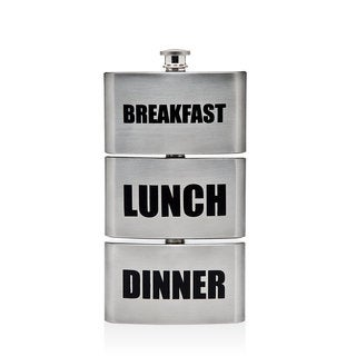 Godinger Silvercolored Stainless-steel Triple Flask