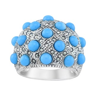 Pangea Mines Sleeping Beauty Turquoise & Marcasite Ring