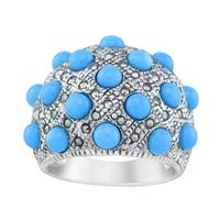 Pangea Mines Sleeping Beauty Turquoise & Marcasite Ring