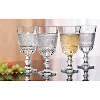 Godinger Renaissance Clear Crystal Stem Glasses (Set of 4)