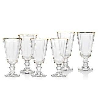 Godinger Grandeur Clear Crystal Gold-band Shot Glasses (Pack of 6)