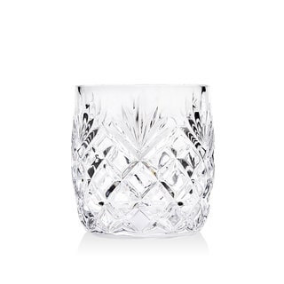 Godinger Berkshire Clear Crystal Double Old Fashioned Glasses (Set of 4)