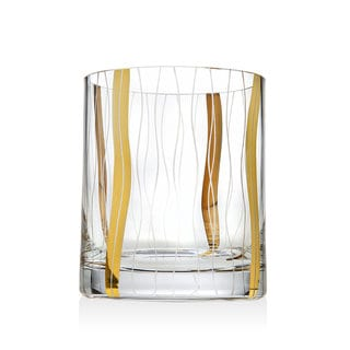 Godinger Seabreeze Clear/Gold-tone Drinking Glasses (Set of 4)