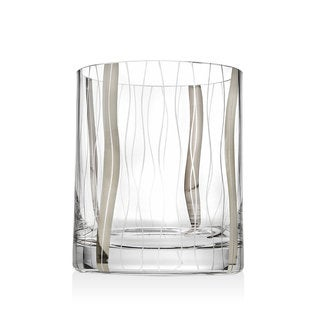 Godinger Seabreeze Silver/Clear Crystal Double Old-fashioned Glasses (Set of 4)