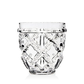 Godinger Bamboo Gardens Clear Crystal Double Old-fashioned Glasses (Pack of 4)