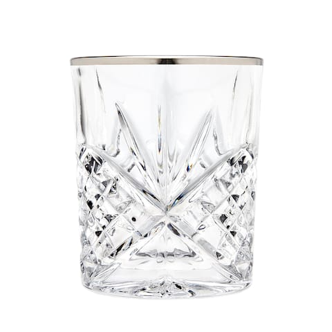Godinger Dublin Clear Crystal Double Old-fashioned Glasses (Pack of 4)