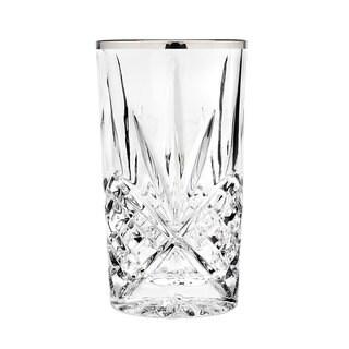 Godinger Dublin Clear Crystal Highball Tumbler (Pack of 4)