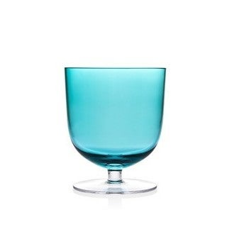 Rondo 13-ounce Sea Blue Crystal Low Ball Tumbler (Set of 4)
