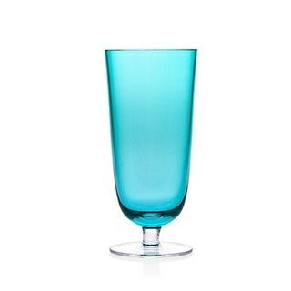 Godinger Rondo Sea Blue Crystal 10-ounce Highball Tumblers (Pack of 4)