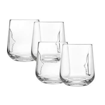 Godinger Silhoutte Double Old Fashioned 16-ounce Glass Se...