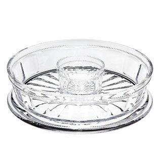 Godinger Hamilton House Crystal Chip and Dip Serving Tray