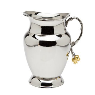 Godinger Golden Blossom Silvertone Stainless Steel 70-ounce Pitcher