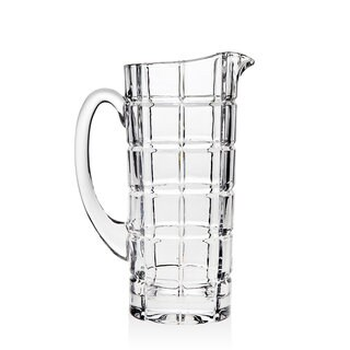 Godinger Radius Clear Crystal Water Pitcher