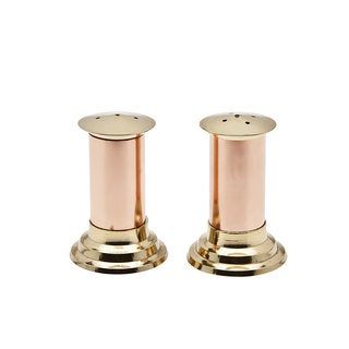 Godinger Hearth Gold Copper and Brass Salt and Pepper Shakers