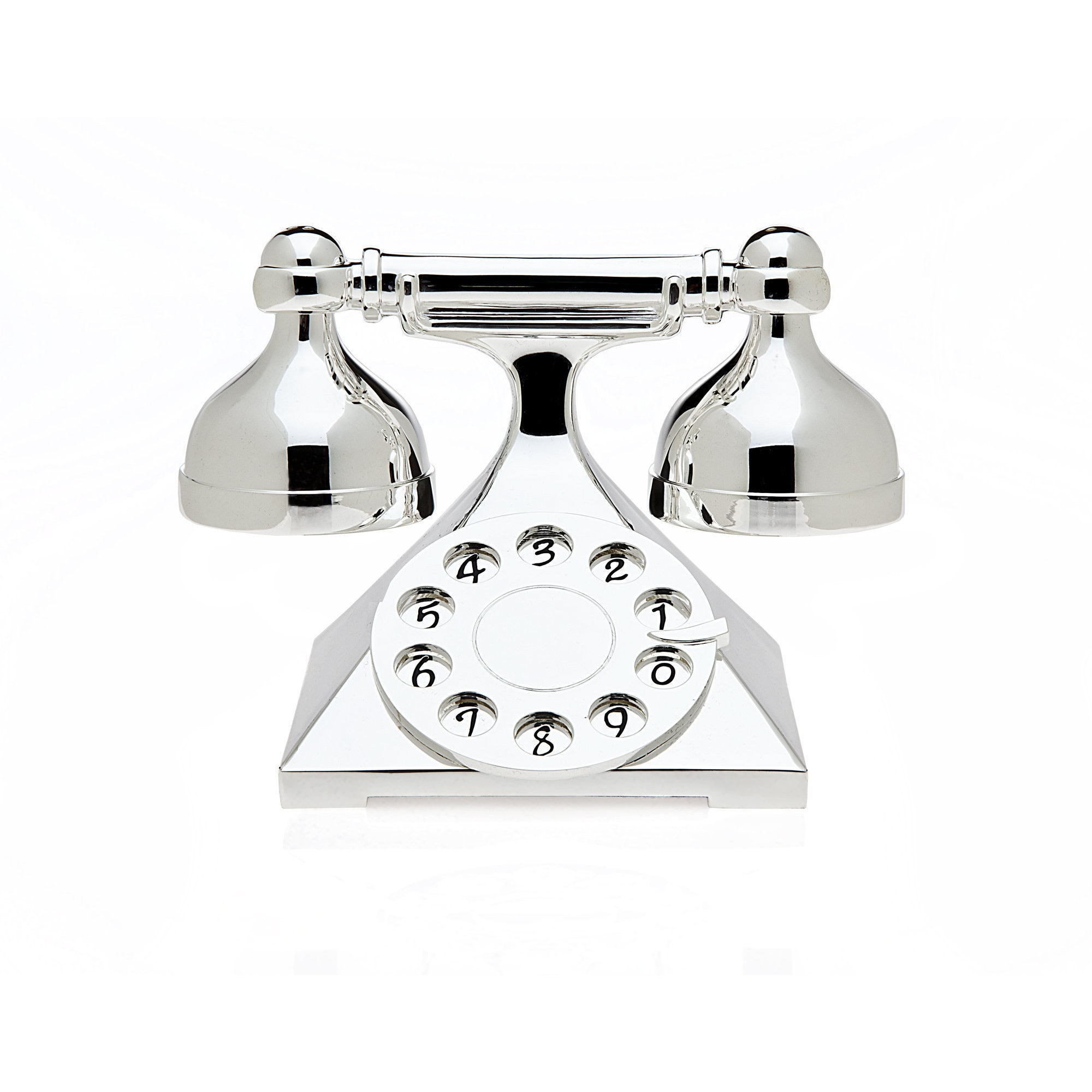 Godinger Silvercolored Metal Telephone Salt and Pepper Sh...