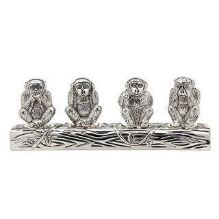 Godinger 4 Monkeys Salt and Pepper Shaker Set
