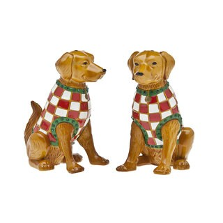 Godinger Golden Retriever Salt and Pepper Shaker Set