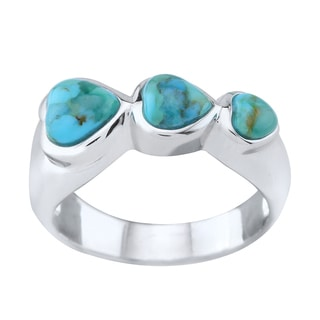 Pangea Mines Heart-Shaped Turquoise Band Ring