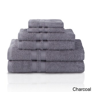 Superior Premium Cotton 500 GSM Ultra Soft 6-Piece Towel Set with Honeycomb Designed Terry Cloth Double Border
