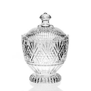 Godinger Dublin Clear Crystal Glass Covered Candy Dish
