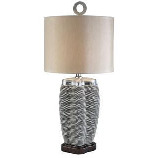 Furniture of America Mirabelle Glam Silver Table Lamp