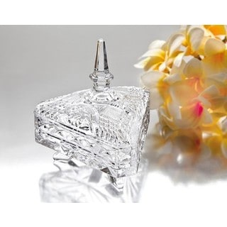 Godinger Clear Crystal Triangular Box With Lid