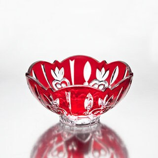 Case Small Red Crystal Candy Dish