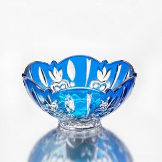Godinger Case Blue Crystal Small Candy Dish