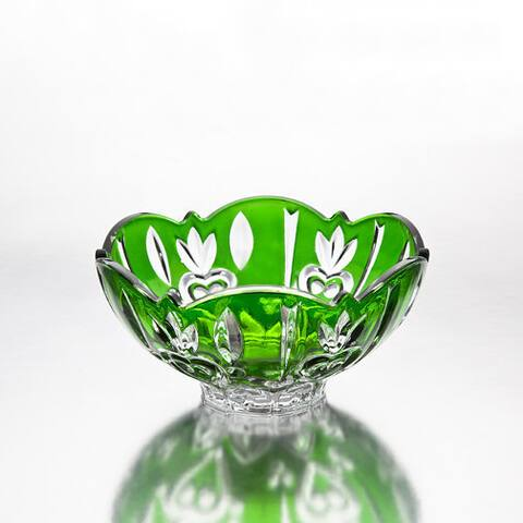 Case Green Crystal Small Candy Dish