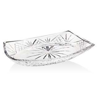 Godinger Dublin Cut Crystal Oval Gallery Serving Platter
