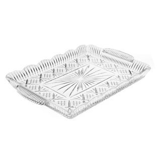 Godinger Dublin Crystal 17-inch Rectangle Tray