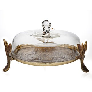 Godinger Laurel Covered Cake Platter